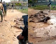 Nigeria Army Subjects Curfew Violators To Severe Punishment In Ilesha, Osun State (Video)