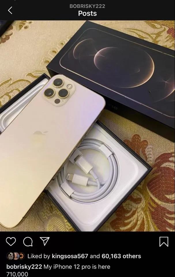 Iphone 12, Bobrisky Shows Off His New iPhone 12 Pro