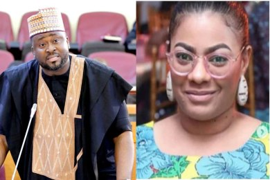 Exposed! Meet Desmond Elliot's alleged secret Babymama