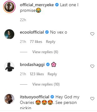 What Wathoni, Prince, Khloe, Tuoyo, Others said about Mercy Eke's new photos