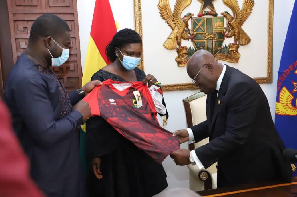 Kotoko Present Errea Replica To President Akufo-Addo
