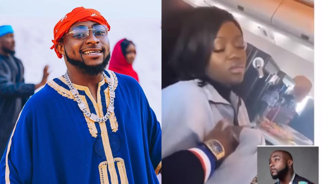 Chioma Gives 'Unpleasant' Reaction As Davido Presses Her Bo0bs
