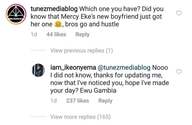 """Bros Hustle O"" – Blogger Mocks Ike Onyema After Mercy Eke's New Lover Bought Her A Car"
