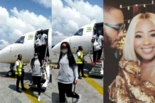 Erica and Kiddwaya arrive Sierra Leone for 3days visit (Video)