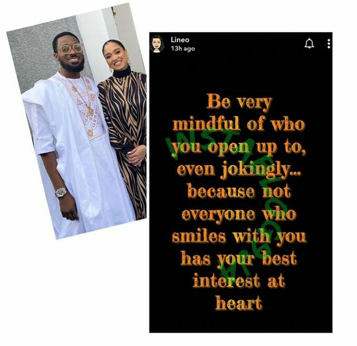 Not Everyone Who Smiles With You Has Yor Best Interest At Heart – D'banj's Wife Lineo Warns