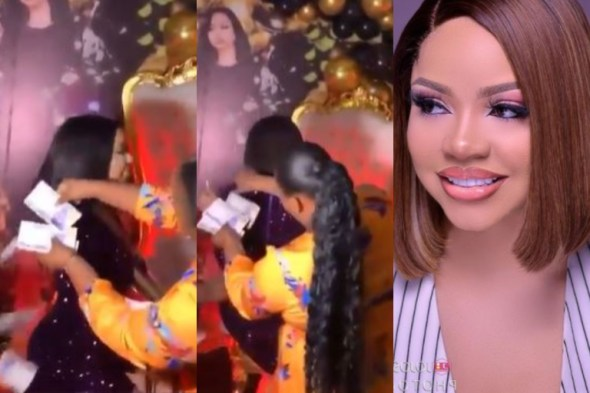 Watch How Nengi's Fans Made It Rain Dollars And Naira At Her Meet And Greet In Lagos (Video)