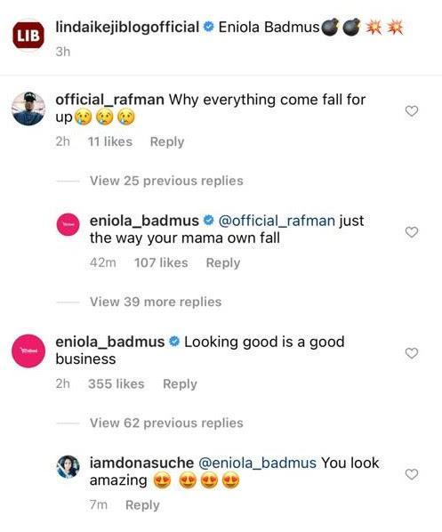 """The Way Your Mama Own Fall"" – Eniola Badmus Knocks Fan Who Mocked Her Bikini Photo"