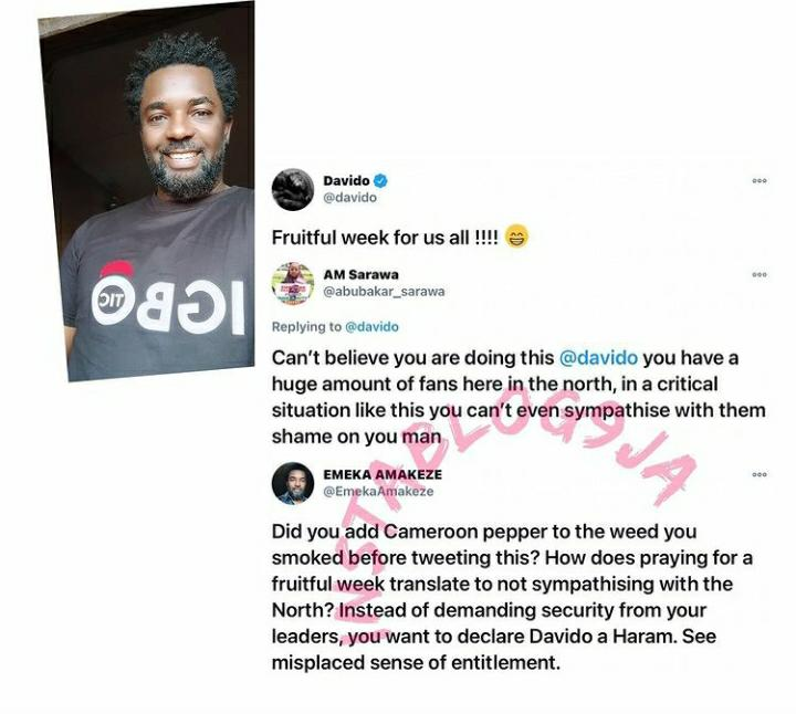 Actor Emeka Amakeze Chides Lady Who Accused Davido Of Not Sympathizing With The North