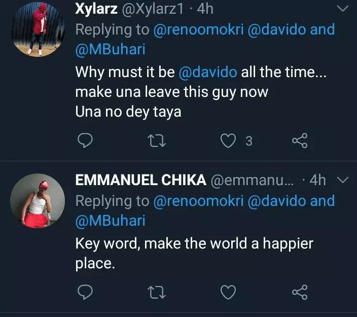 Hours After Reno Omokri Defended Davido, See What Nigerians Are Saying About Him