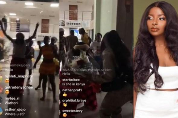 BBNaija Star, Wathoni Given A Befitting Welcome In Kenya (Video)
