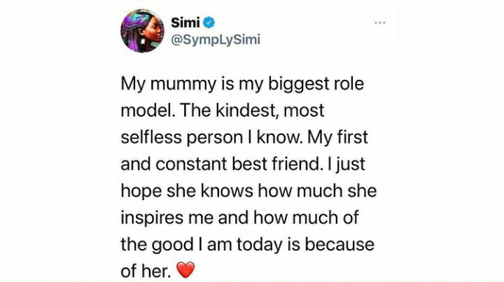 My Mummy Is My Biggest Role Model – Simi Hails For Mom For Inspiring Her To Be Who She Is Today