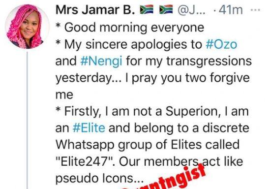 After Accusing Laycon And Nengi Of Having An Affair, Elite Comes Out To Apologize