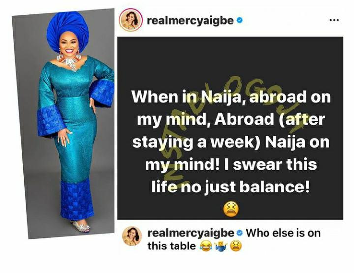 Actress Mercy Eke Laments Bitterly After Relocating Abroad Just A Week Ago