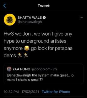 Shatta Wale Replies Yaa Pono About His Beef Request 2