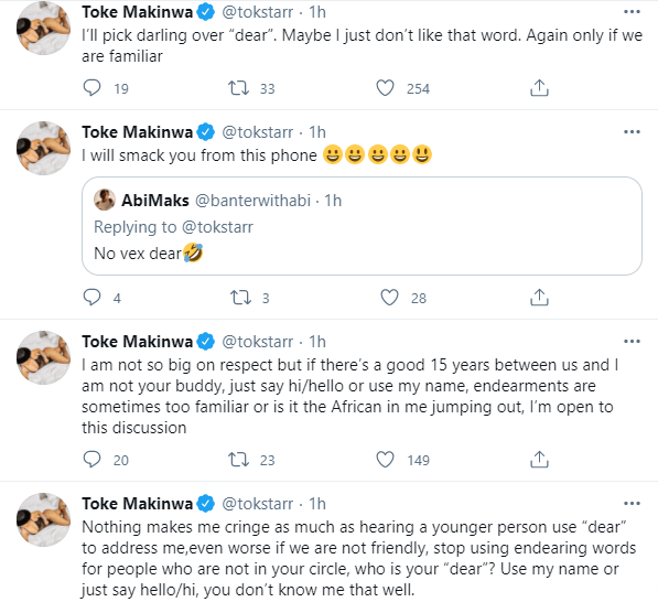 If We Are Not Buddies, In The Same Circle Or Living Together Don't Address Me Using 'Dear'- Toke Makinwa Warns