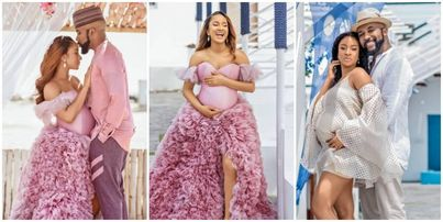 Image result for Banky W & Beautiful Actress Wife Adesua Welcome A Baby Boy - PHOTOS