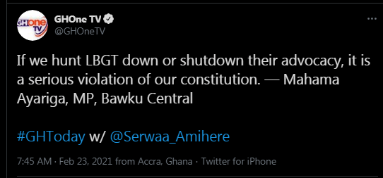 Hunting LGBT Advocacy Down Is Serious Violation Of Ghana's Constitution – Mahama Ayariga