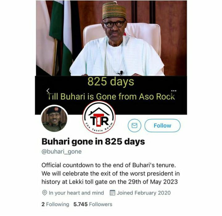 Man Devotes His Time To Count Down Daily To The End Of President Buhari's Term As Nigerian President