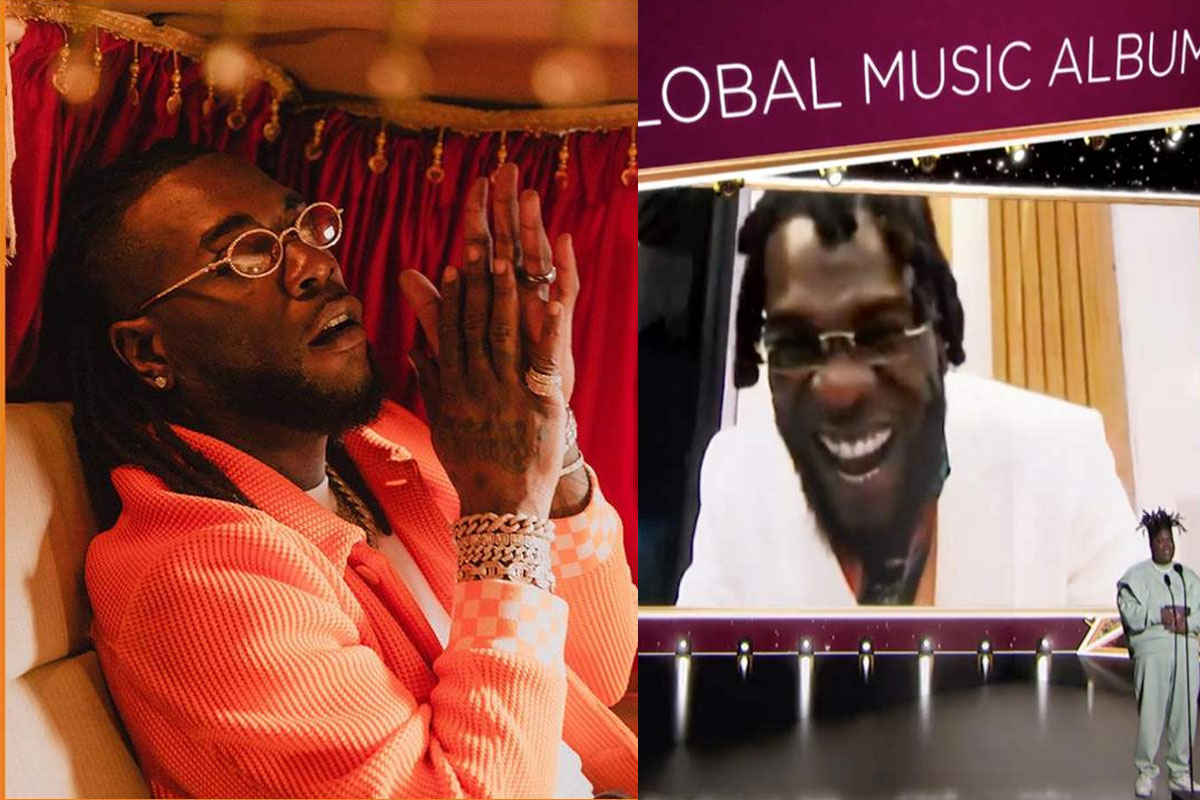 Look At Me Now' - Burna Boy Brags After Winning Grammy Award
