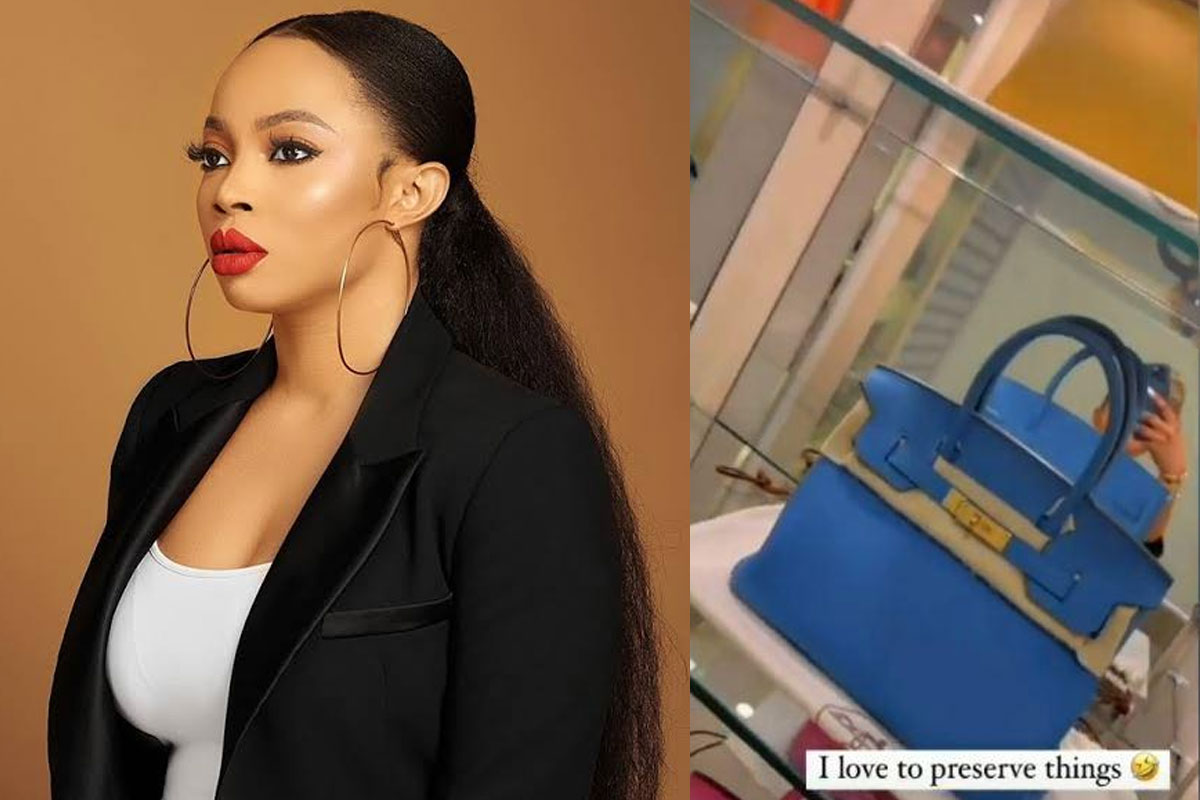 """I Love To Preserve Things"""" – OAP, Toke Makinwa Says As She Shows Off Hermes Bags Collection"""