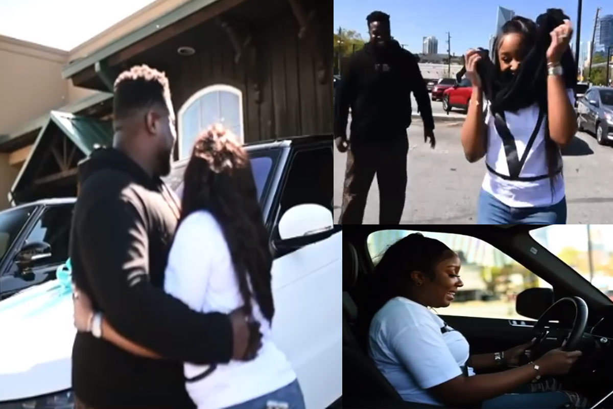 This Is Nothing Compared To The Gift You Gave Me'- Davido's Brother, Adewale  Says As Gifts His Wife, Kani A Range Rover On Her Birthday