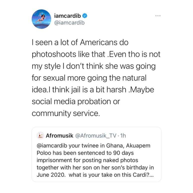Cardi B Reacts To The Sentencing