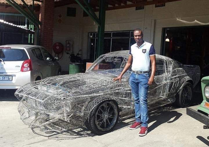 South African Man Builds 1967 Ford Mustang With Wires And His Hands