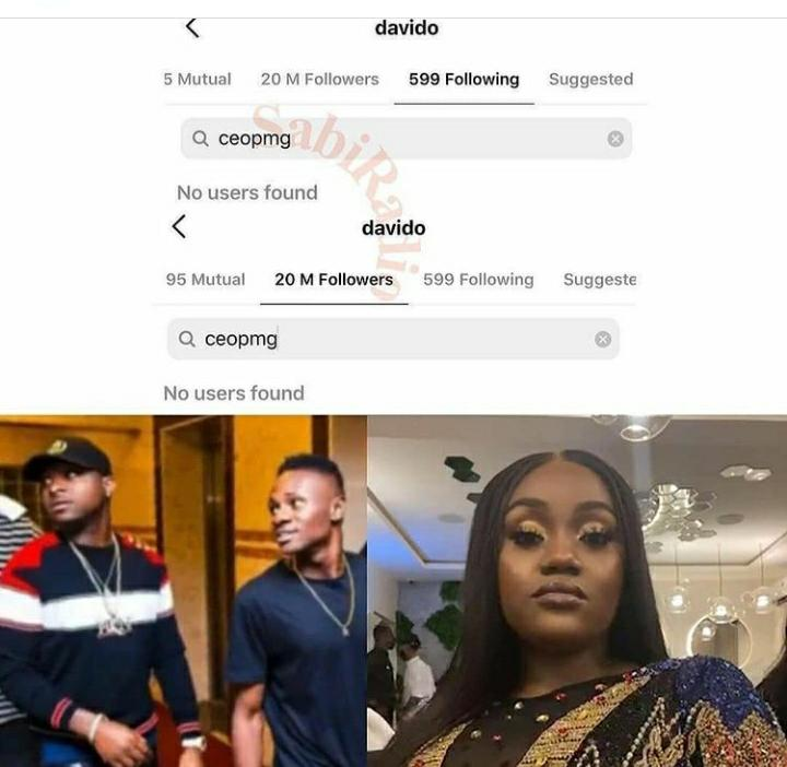 Davido Unfollows His Cousin On IG After His 'Annoyance' Speech At Chioma's Birthday Party