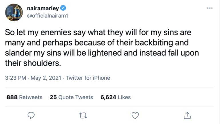 Naira Marley Suggests He Doesn't Care About What His Enemies Think About Him