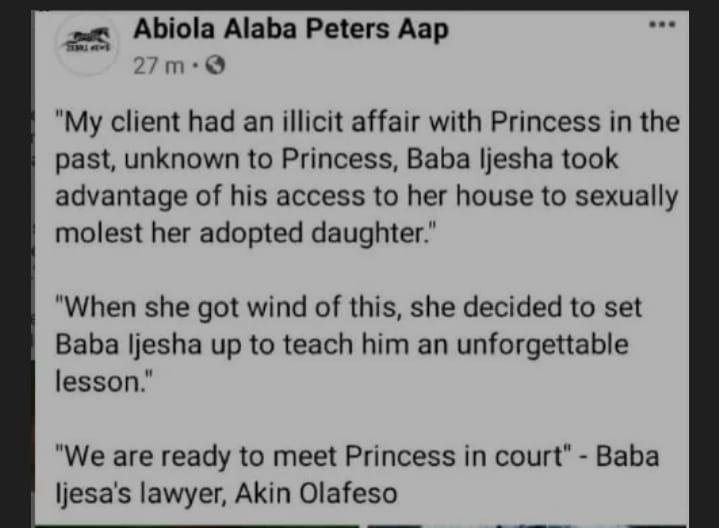 Baba Ijesha Lawyer