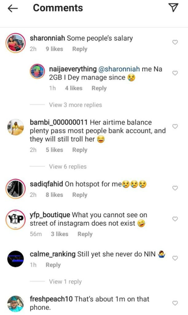 Reaction As Regina Daniels Shows Off Her Airtime And Data Of About 1M