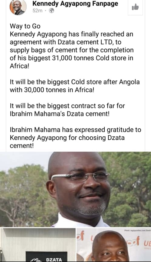 Kennedy Agyapong To Construct Largest Coldstore In Africa, Signs Deal With Ibrahim Maham's Dzata Cement