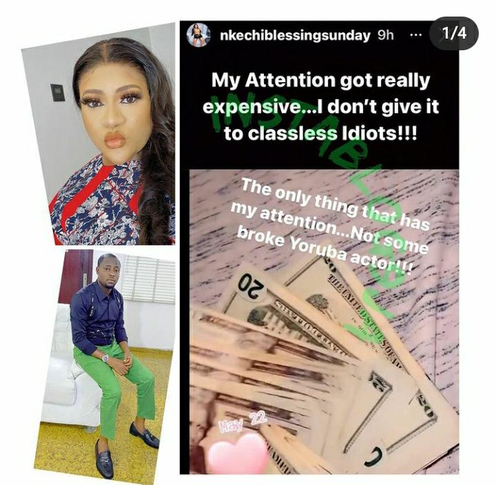 I Don't Give My Attention To Classless Idiots – Nkechi Blessing Blast Actor Lege Miami 1