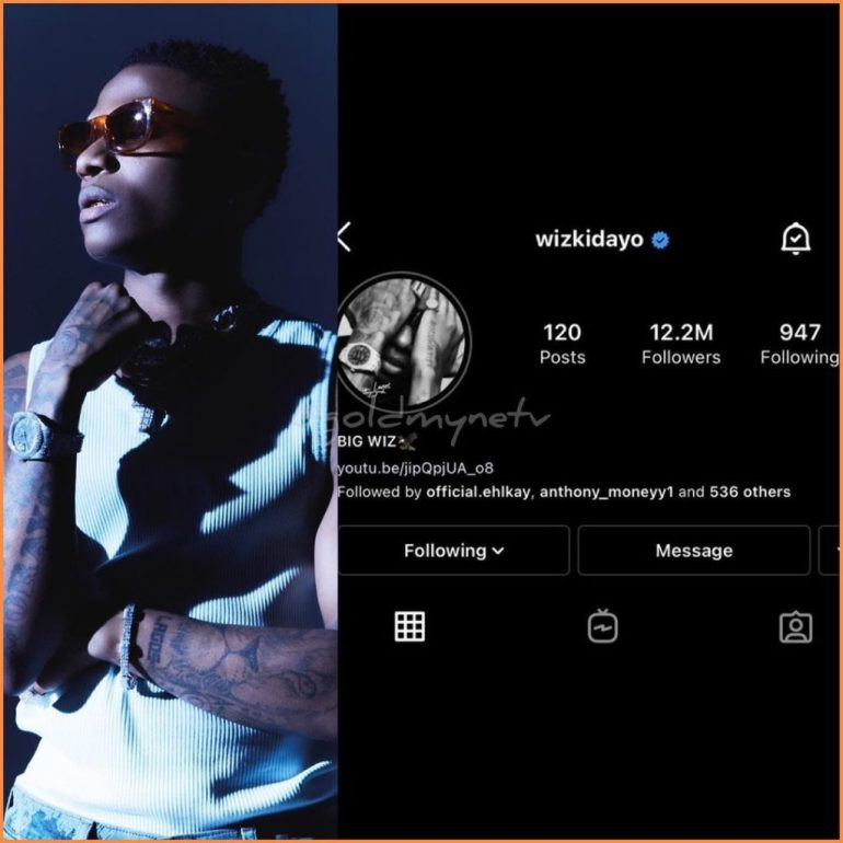 """Nigerians React As Wizkid Changes Signature Name To """"Big Wiz"""" On Instagram"""