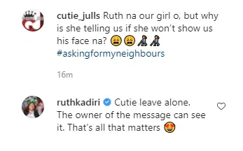 'The Owner Of The Message Can See It' – Ruth Kadiri Reacts After She Was Called Out For Hiding Her Husband