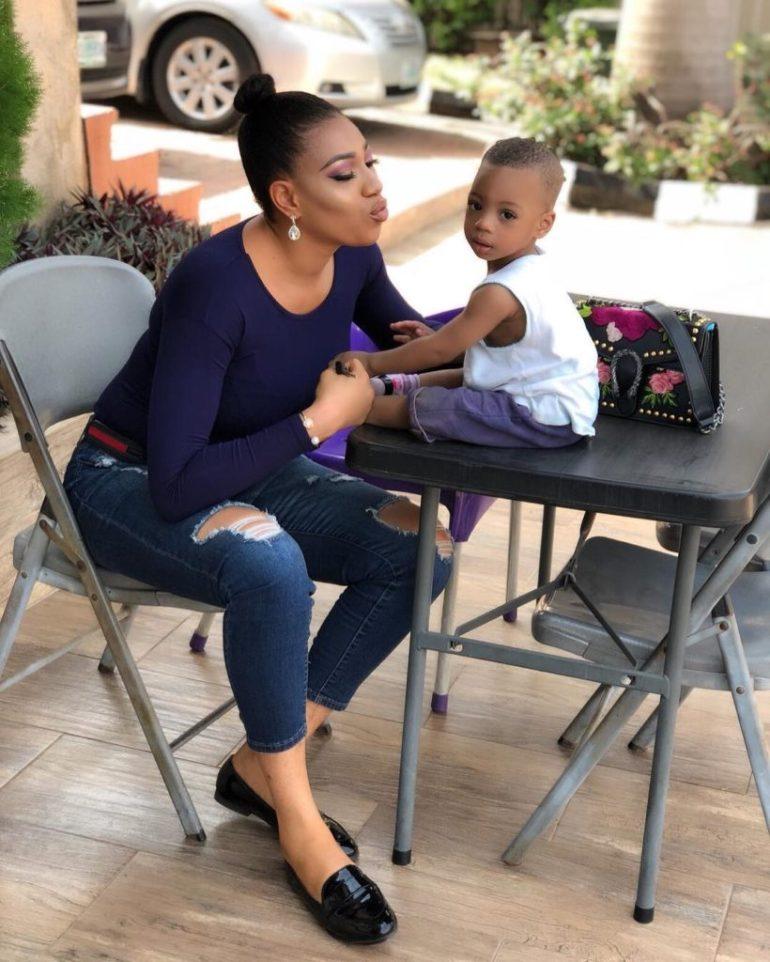 Check Out Adorable Photos Of Actress Queeneth Hilbert & Her Son