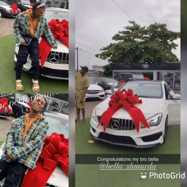 Bella Shmurda Pampers Himself With A Brand New Mercedes Benz (Photos)