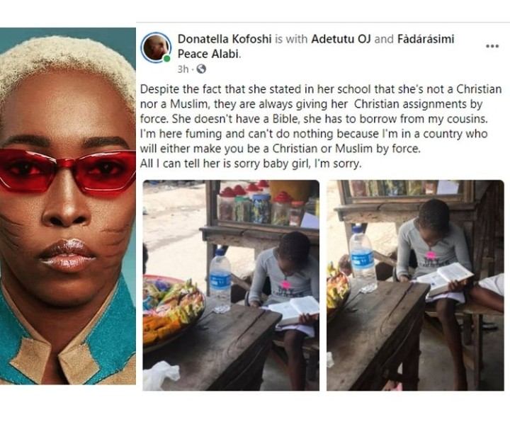 Tribal Mark Model Adetutu Rants About Her Daughter Being Given Christian Asignments