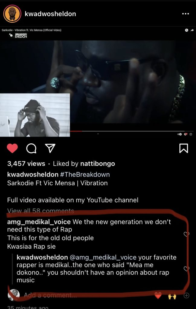 Your Favorite Rapper Is Medikal, You Shouldn't Have An Opinion About Rap Music- Medikal Catch Stray Bullet After Fan Disrespected Sarkodie