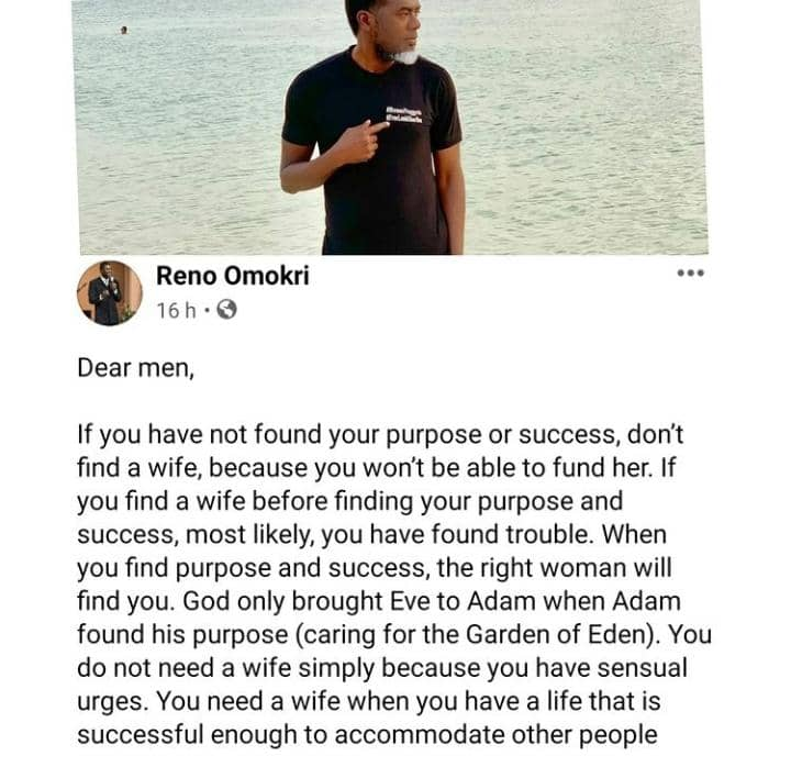 If You Have Not Found Your Purpose Or Success, Don't Find A Wife