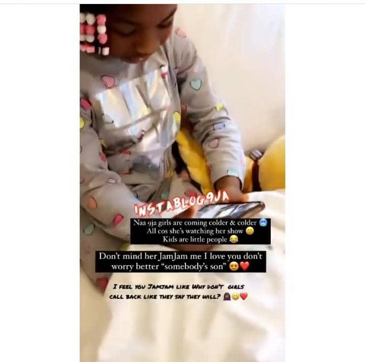 Davido Daughter Imade Giving Tiwa Savage Son Jamil Some Tough Time After Saying He Misses Her,