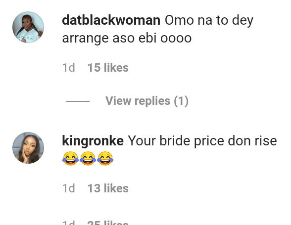 You Bride Price Don Rise'-Nigerians React As Funmi Awelewa Celebrates After Cristiano Ronaldo Viewed Her Instastory