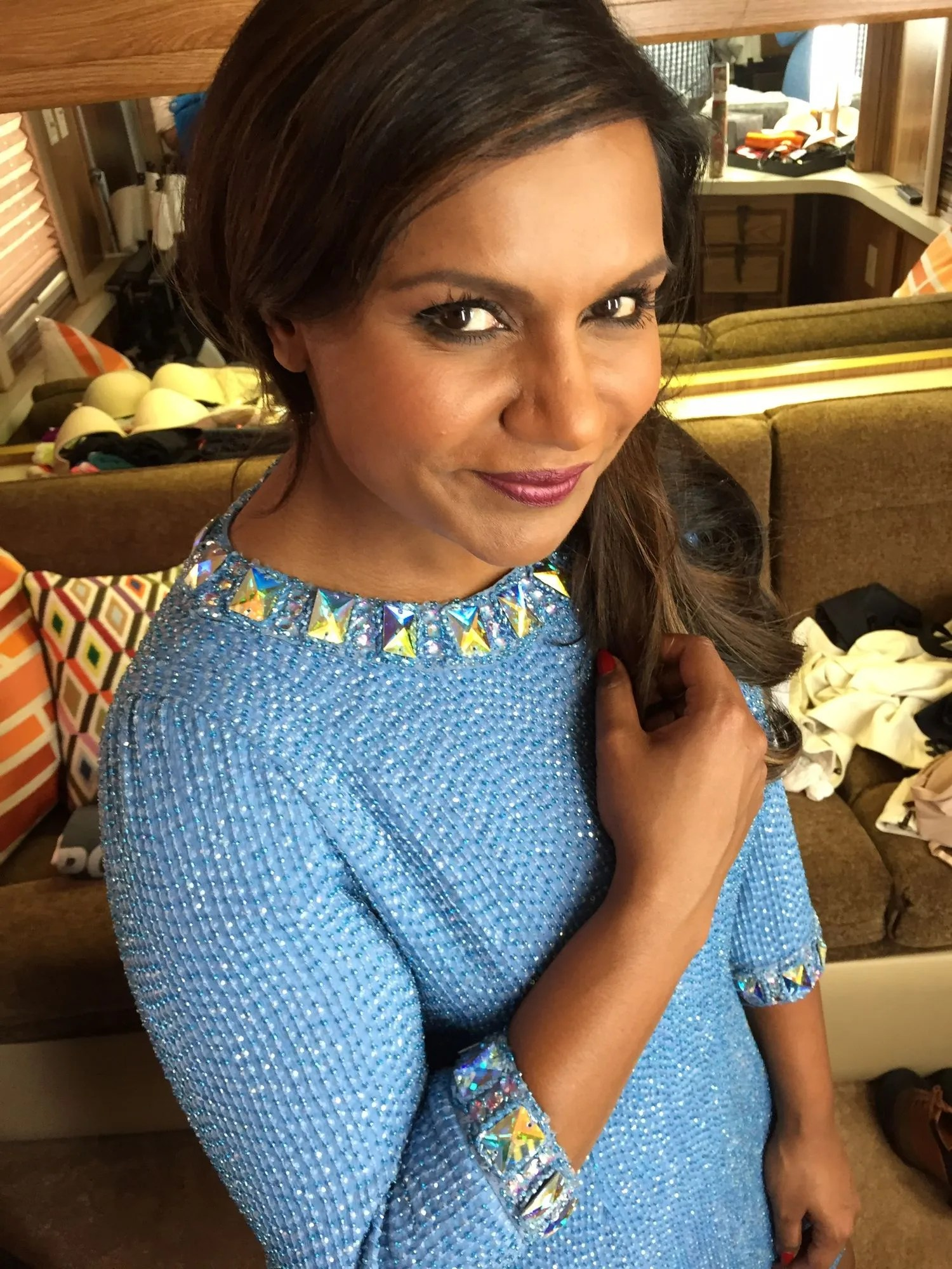 Exclusive Mindy Kaling Glamour Woman Of The Year 2014 Red