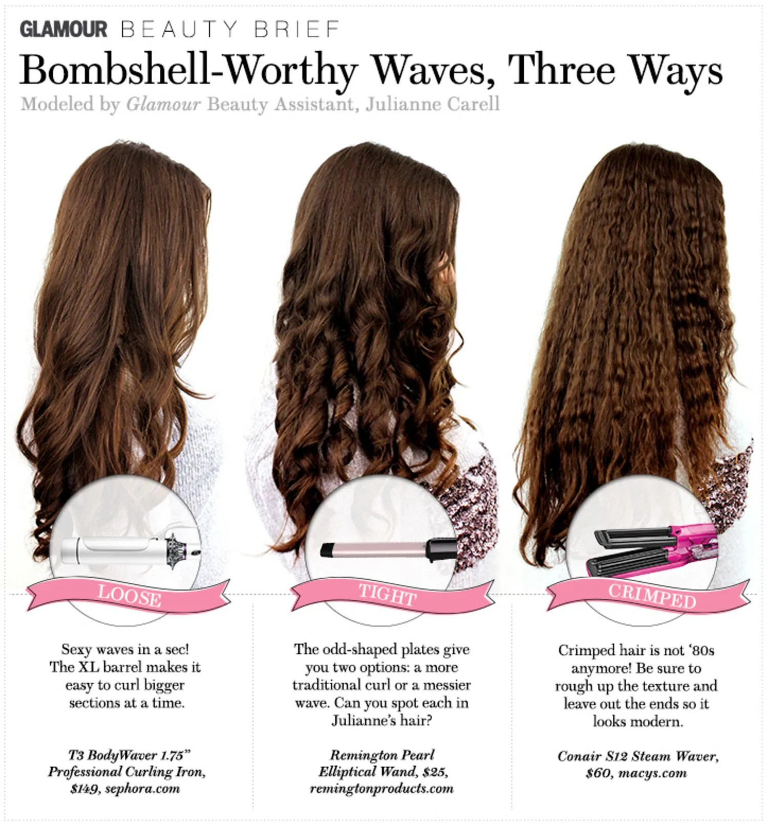 Hair How To Bombshell Worthy Waves Three Ways Glamour
