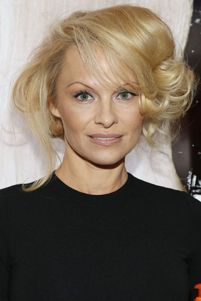so, the updo pamela anderson wore last night was