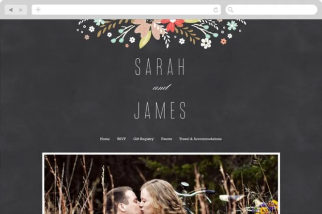 Wedding Website The Knot Our Sample Personal Websites Bio Examples
