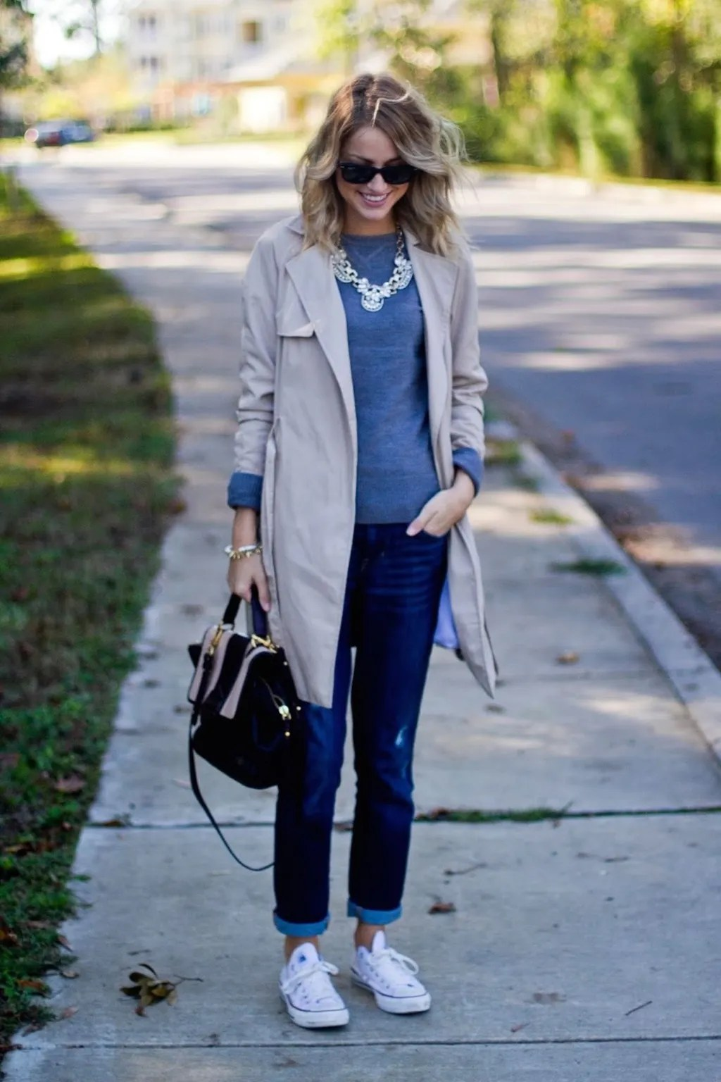 rainy day outfit idea little blonde book