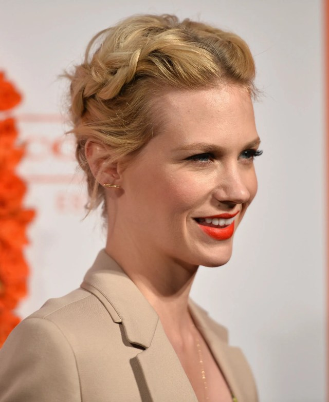 how pretty is this braided updo on january jones? here's how