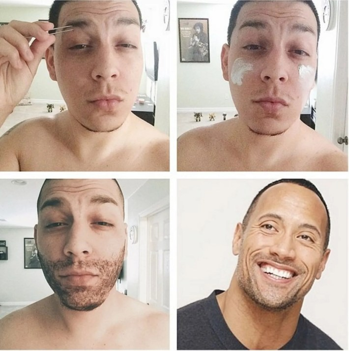 guys doing makeup transformations on instagram | glamour