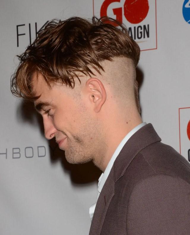 robert pattinson debuts a new undercut haircut with a soul